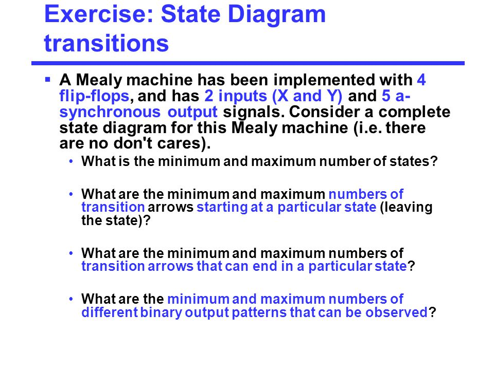 Exercise: State Diagram transitions