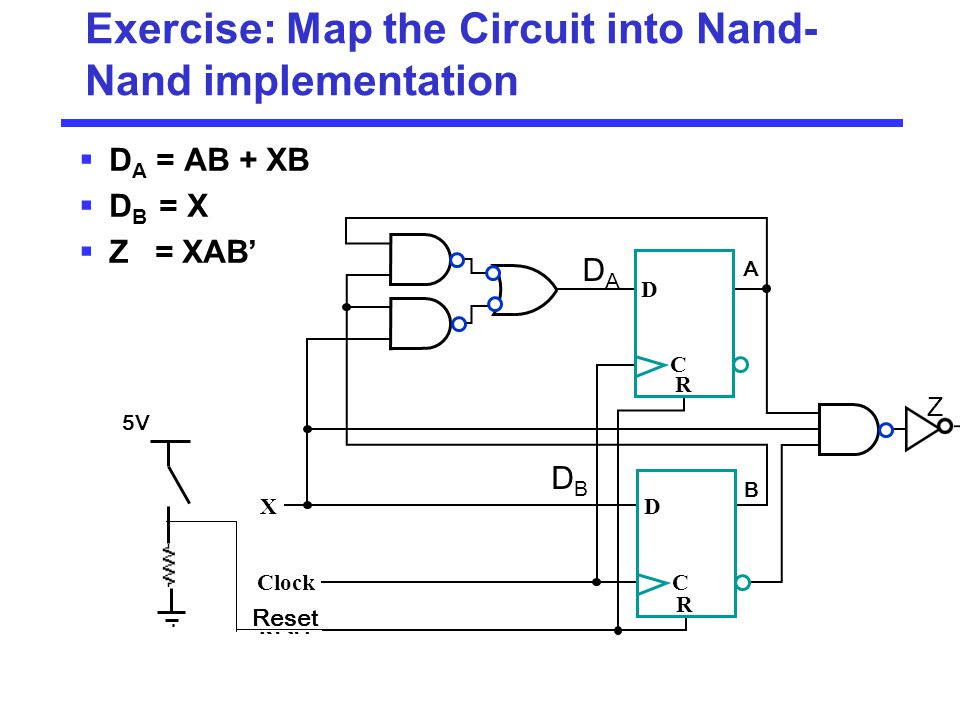 Exercise: Map the Circuit into Nand-Nand implementation
