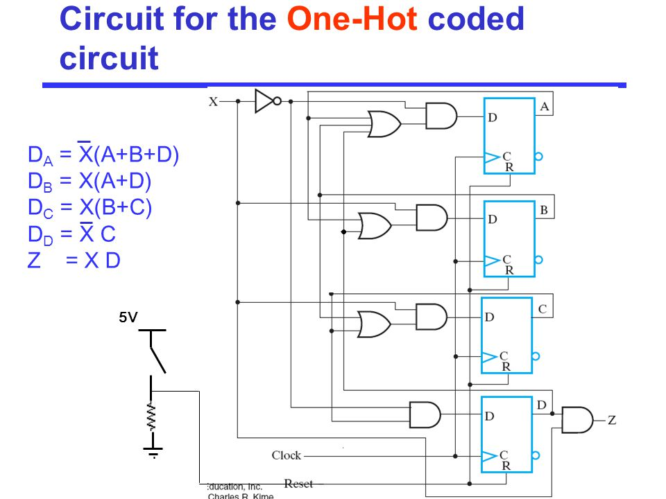 Circuit for the One-Hot coded circuit
