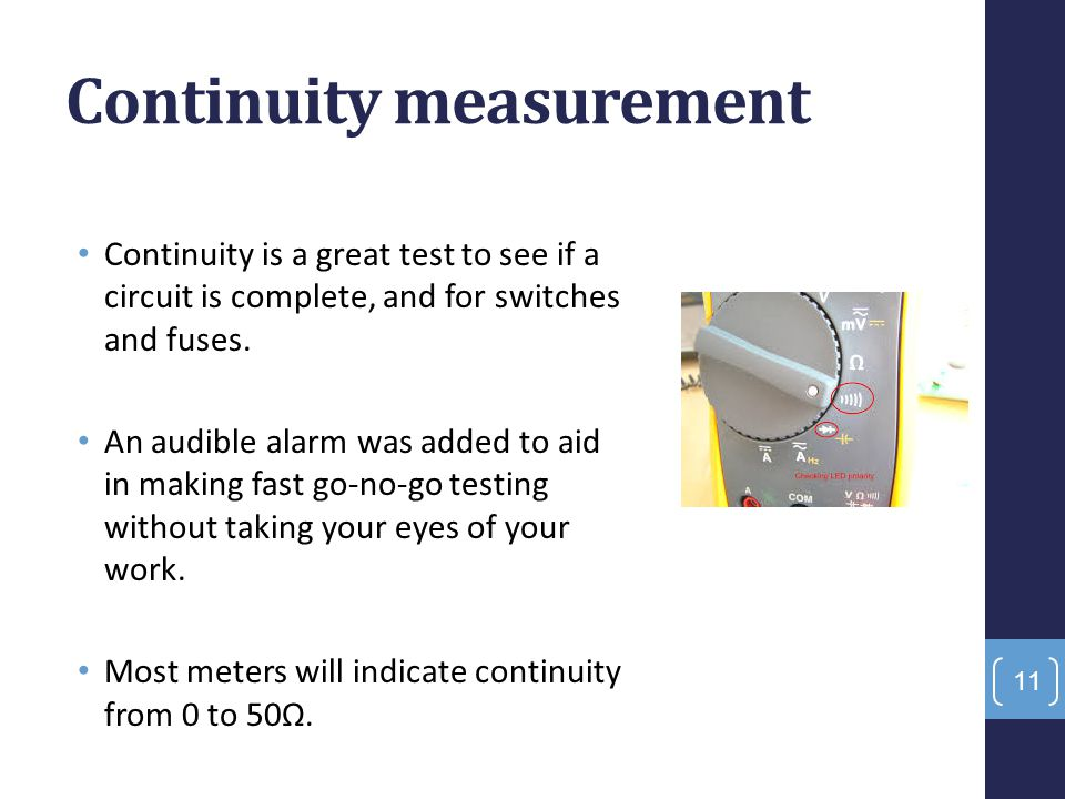 Continuity measurement