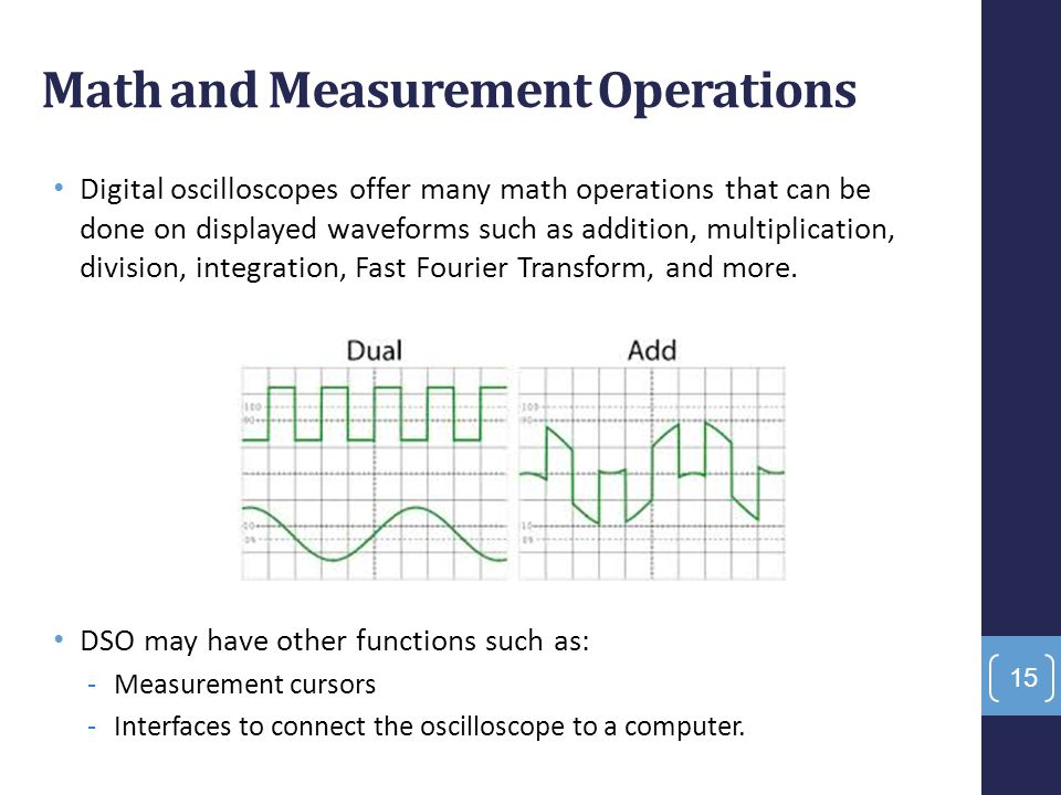 Math and Measurement Operations