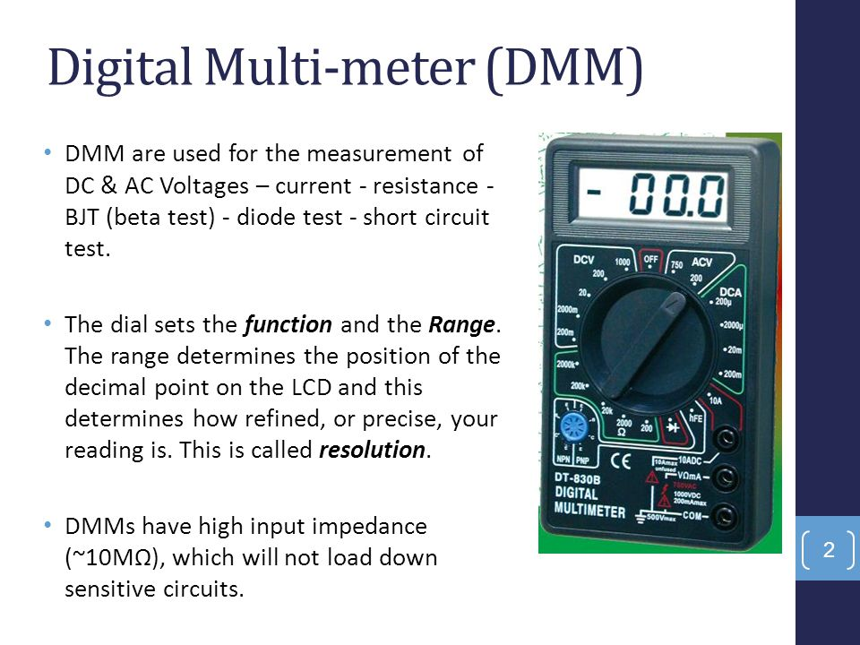 Digital Multi-meter (DMM)