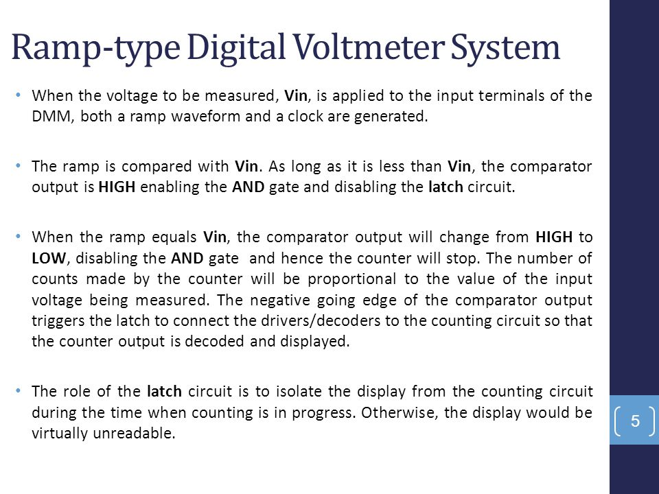 Ramp-type Digital Voltmeter System