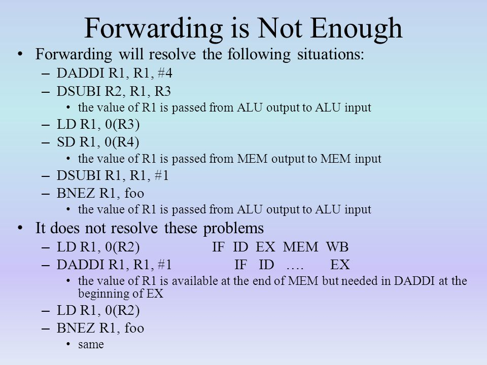 Forwarding is Not Enough