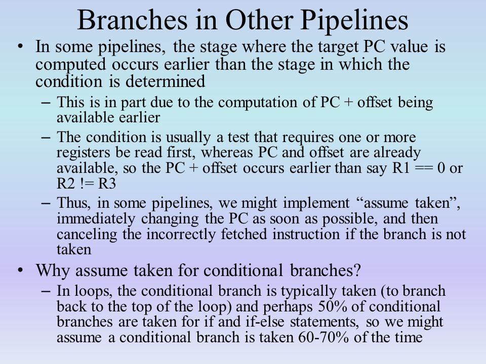 Branches in Other Pipelines