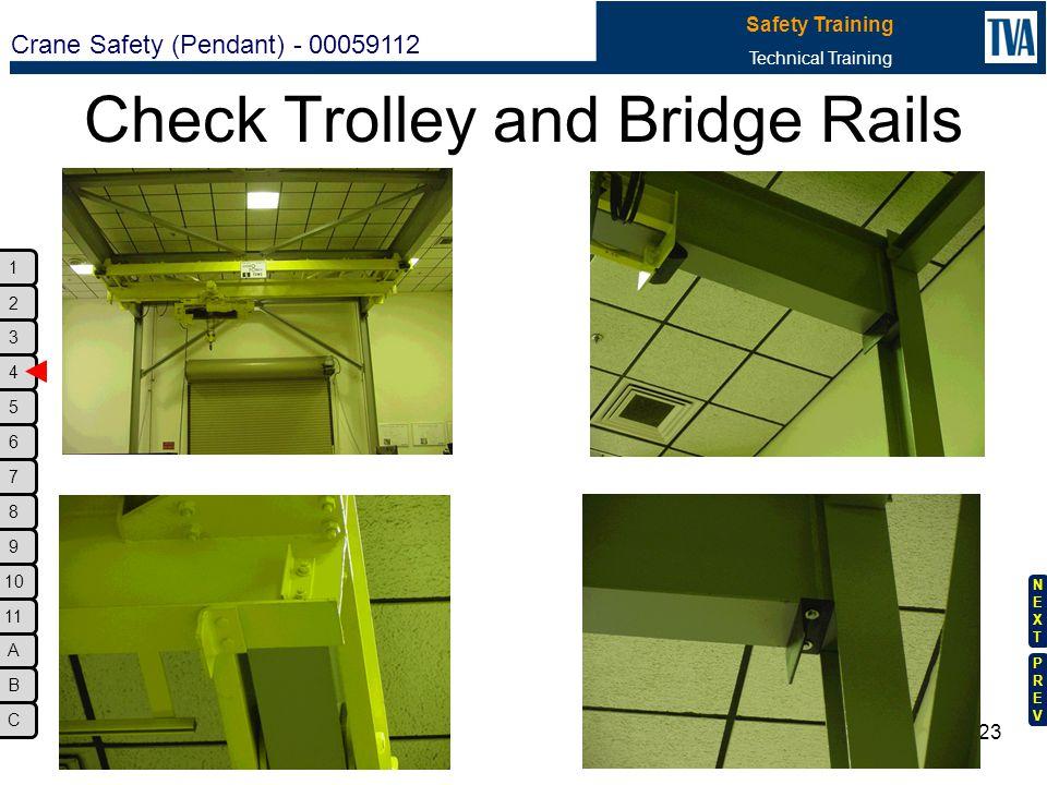 Check Trolley and Bridge Rails