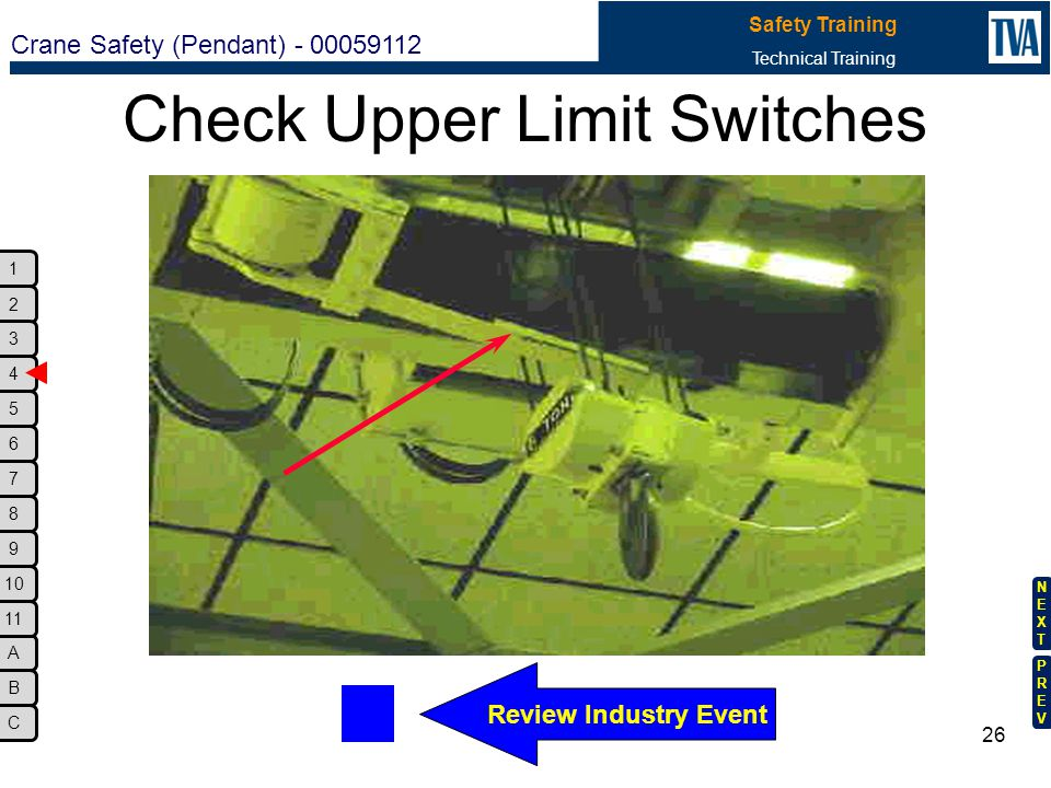 Check Upper Limit Switches