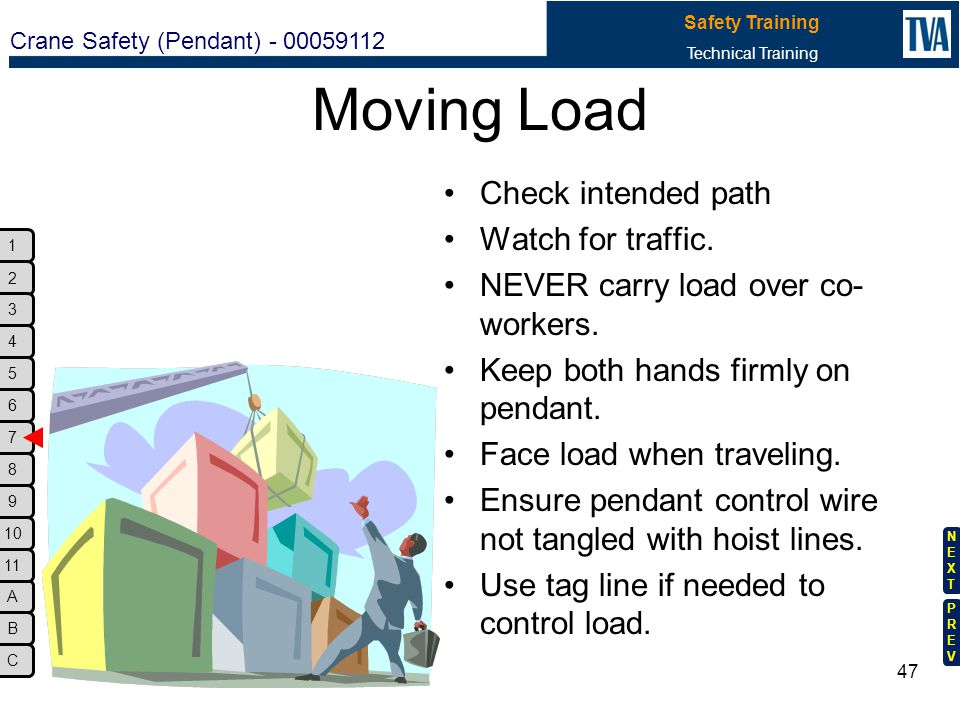 Moving Load Check intended path Watch for traffic.