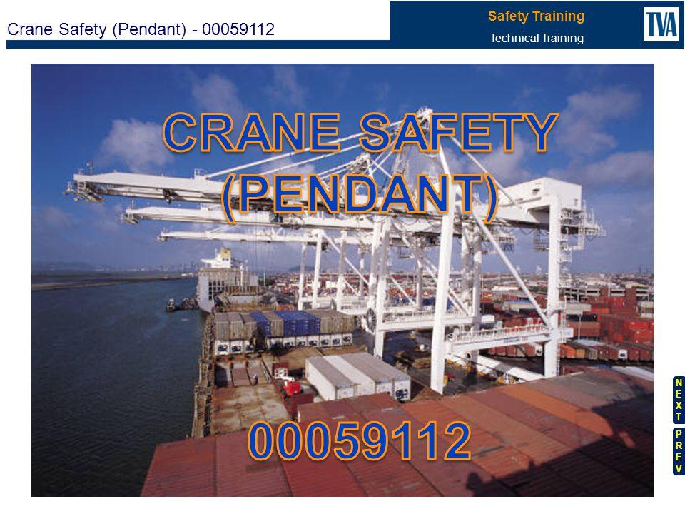 CRANE SAFETY (PENDANT) 00059112