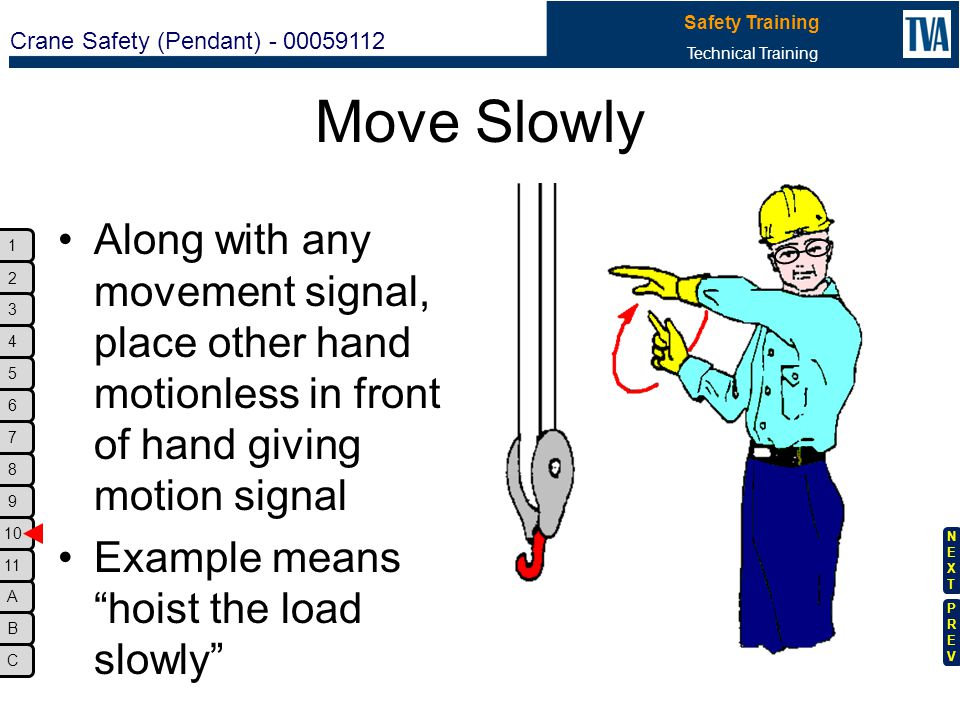 Move Slowly Along with any movement signal, place other hand motionless in front of hand giving motion signal.