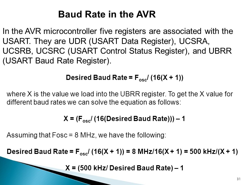 Baud Rate in the AVR