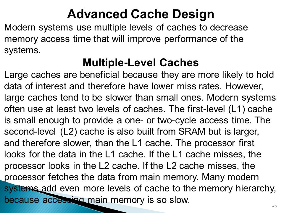 Multiple-Level Caches