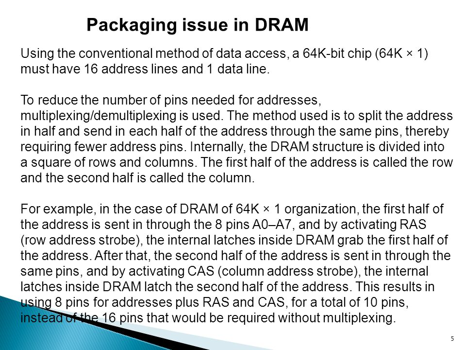 Packaging issue in DRAM