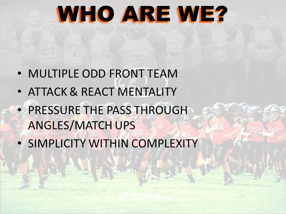 WHO ARE WE MULTIPLE ODD FRONT TEAM ATTACK & REACT MENTALITY