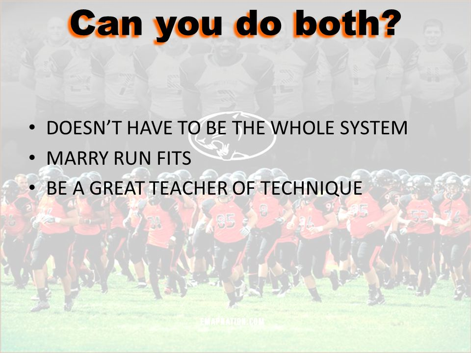 Can you do both DOESN'T HAVE TO BE THE WHOLE SYSTEM MARRY RUN FITS