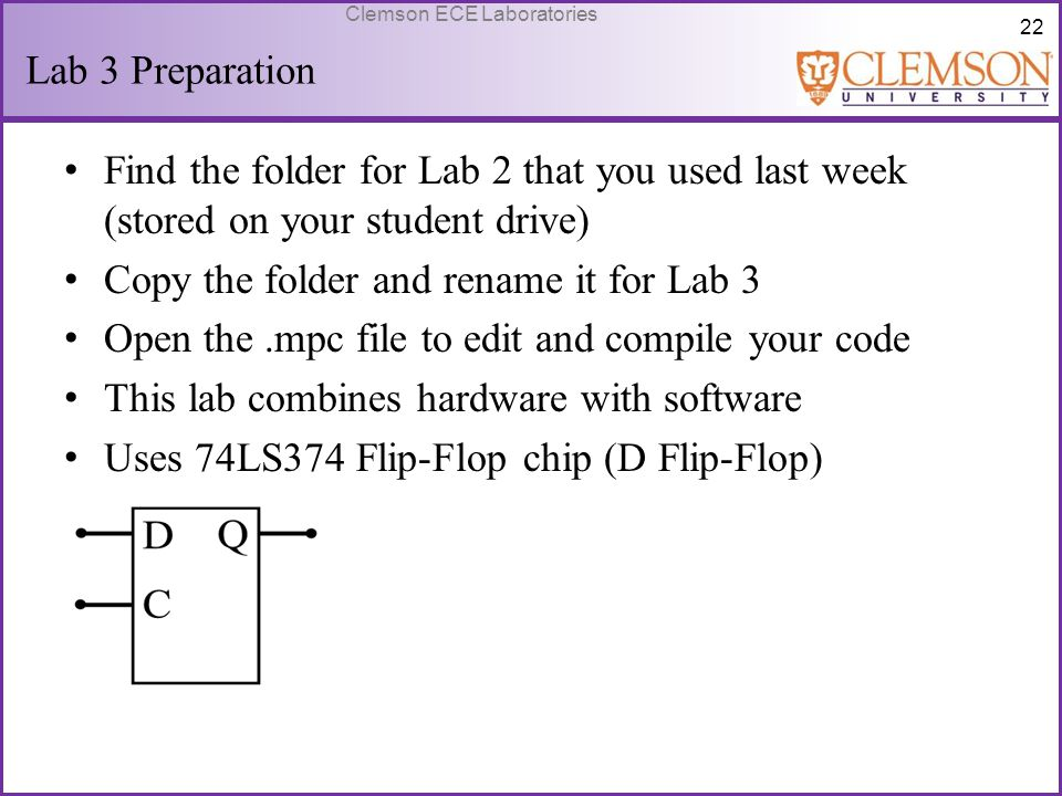 Copy the folder and rename it for Lab 3
