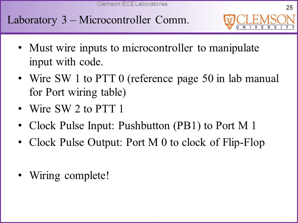 Laboratory 3 – Microcontroller Comm.