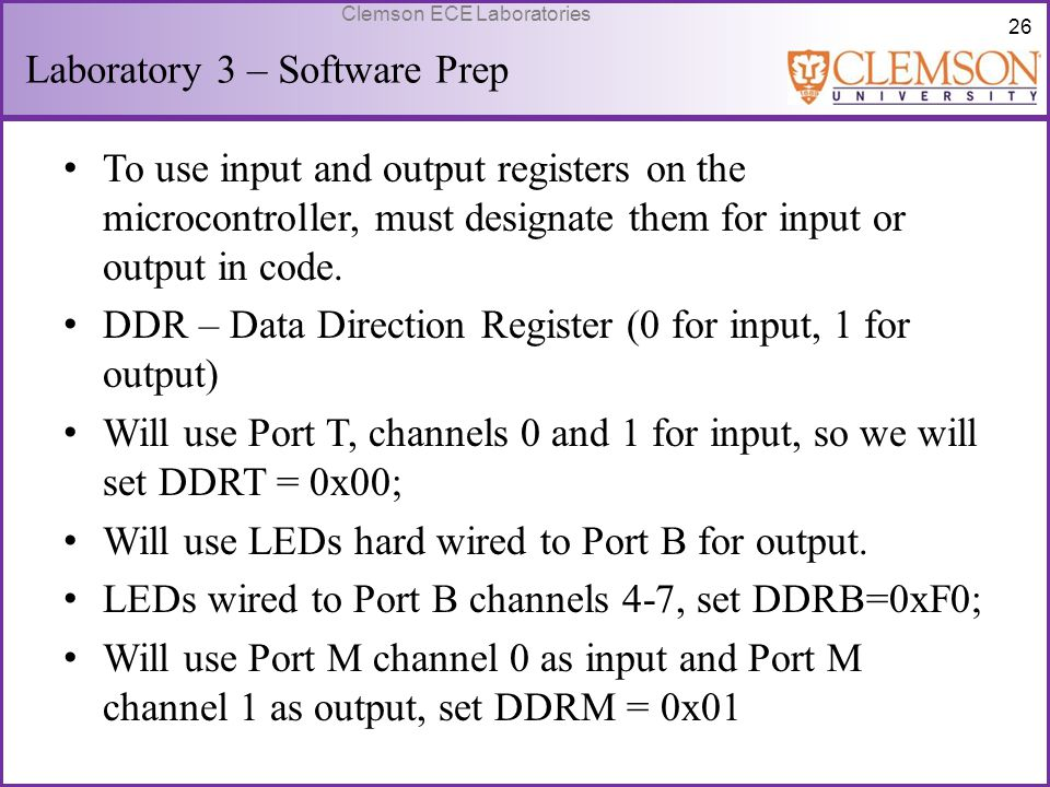 Laboratory 3 – Software Prep