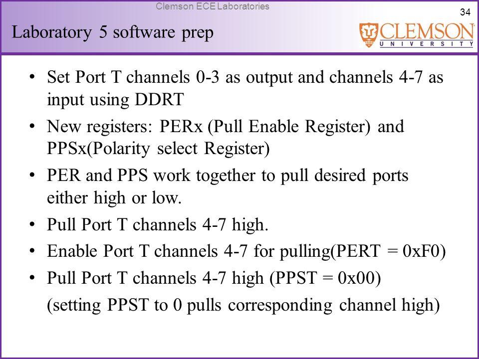 Laboratory 5 software prep