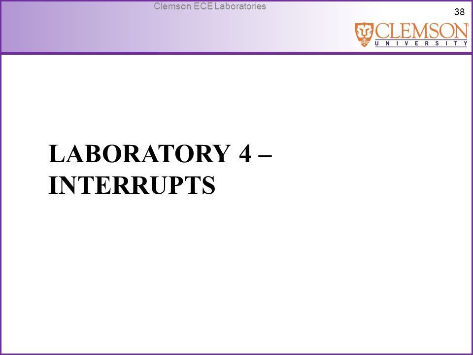 Laboratory 4 – Interrupts