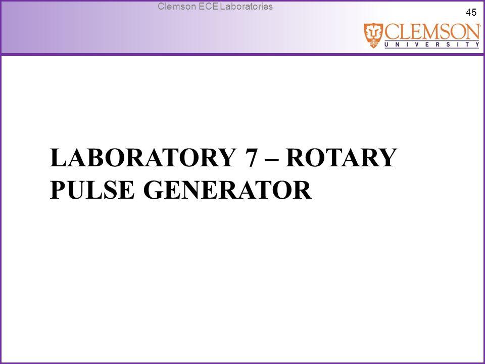 Laboratory 7 – Rotary Pulse Generator