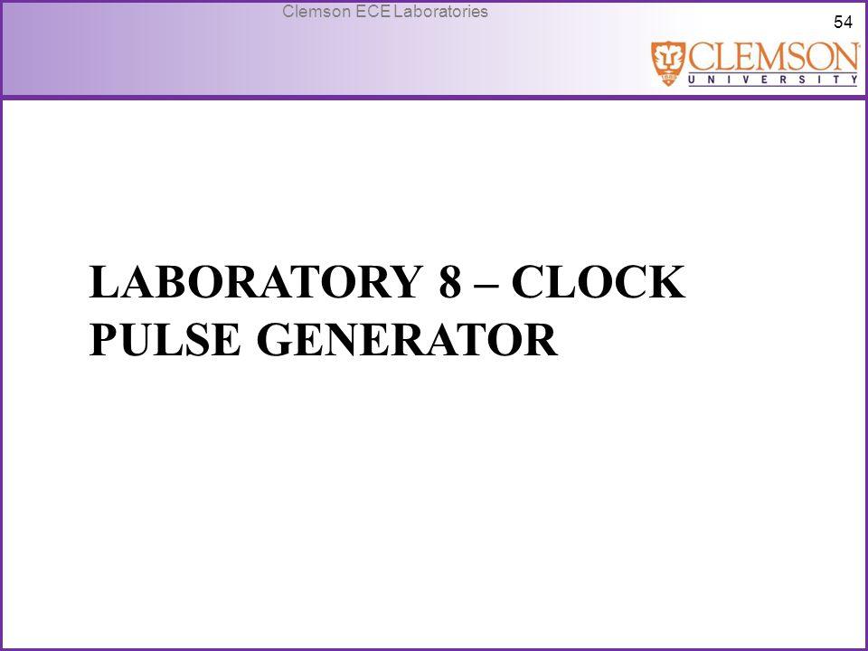 Laboratory 8 – Clock Pulse Generator