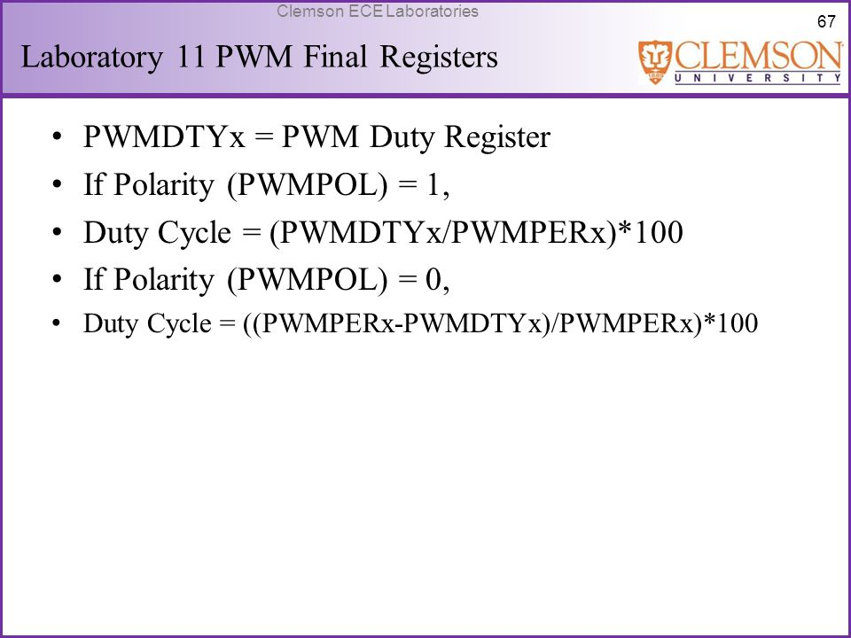 Laboratory 11 PWM Final Registers