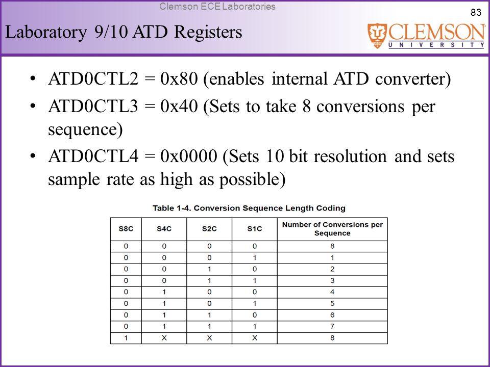 Laboratory 9/10 ATD Registers