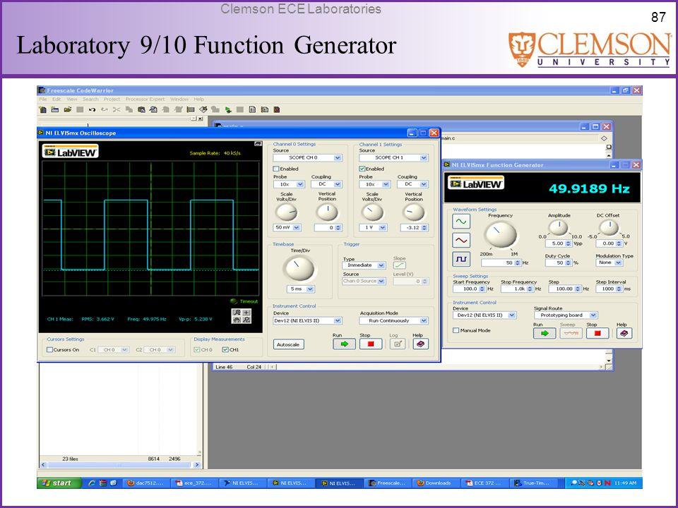 Laboratory 9/10 Function Generator