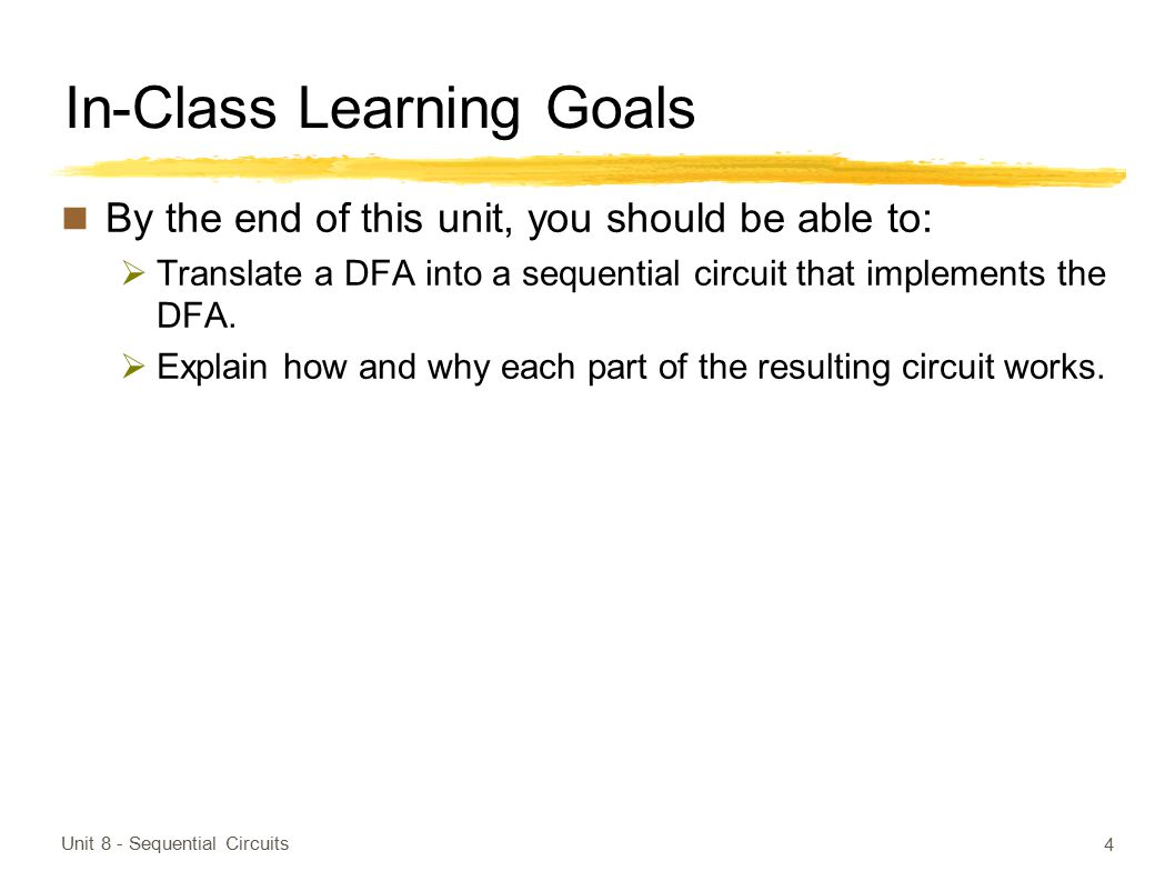 In-Class Learning Goals