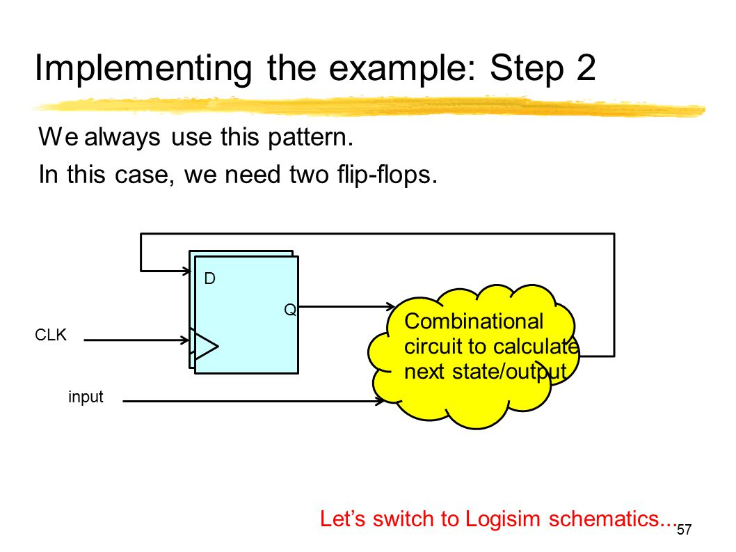 Implementing the example: Step 2