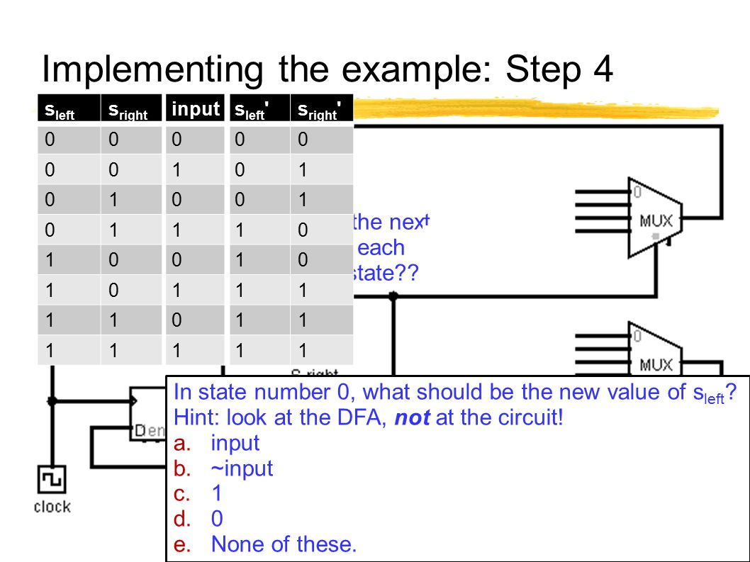 Implementing the example: Step 4