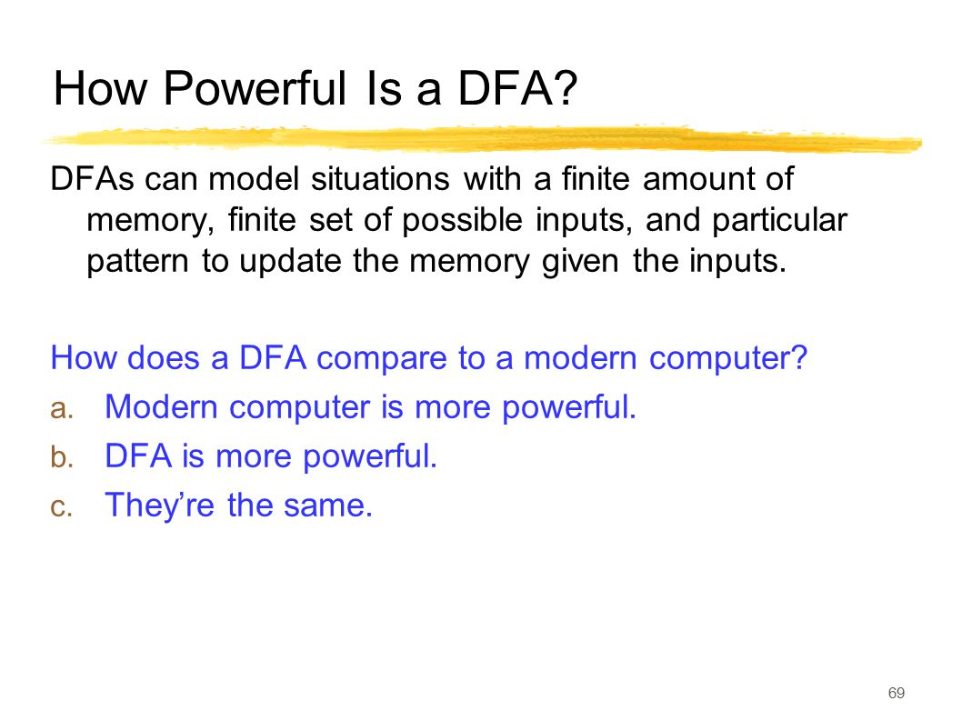 How Powerful Is a DFA