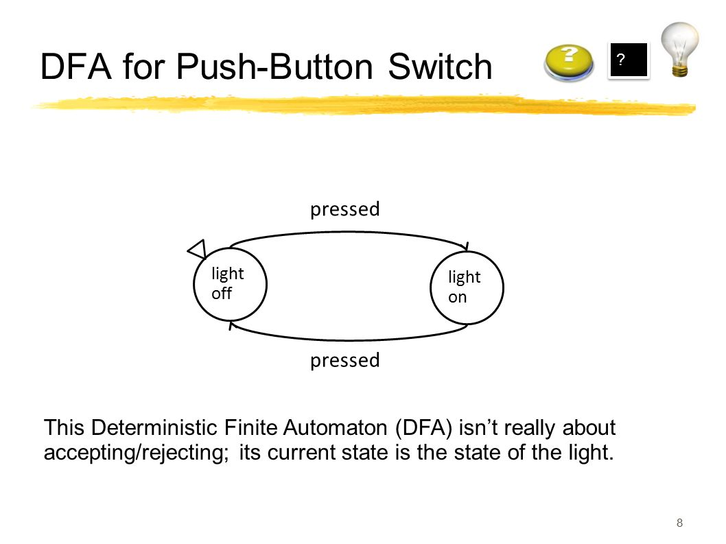 DFA for Push-Button Switch