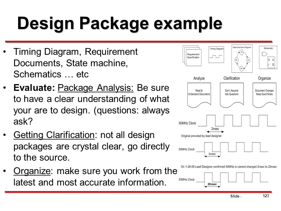 Design Package example