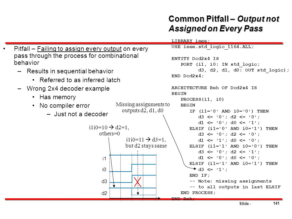 Common Pitfall – Output not Assigned on Every Pass