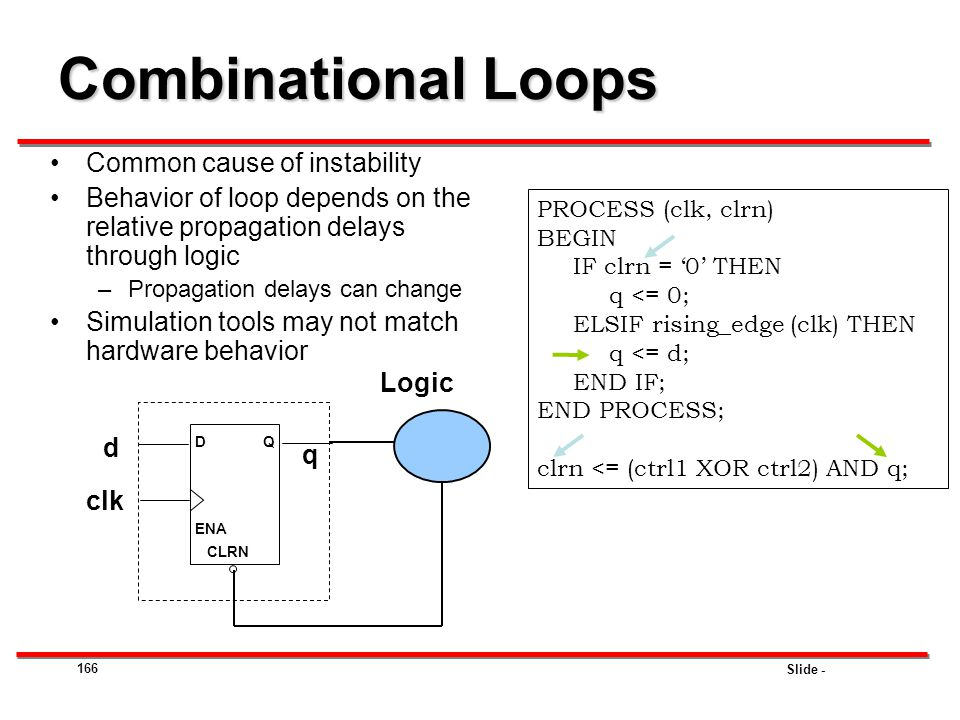 Combinational Loops Common cause of instability
