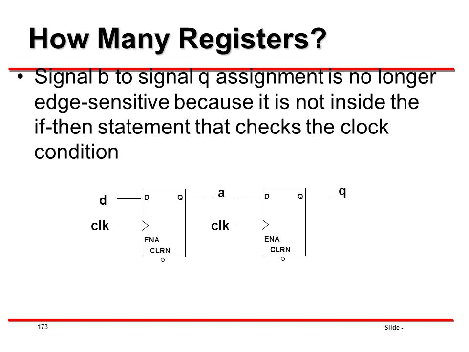 How Many Registers