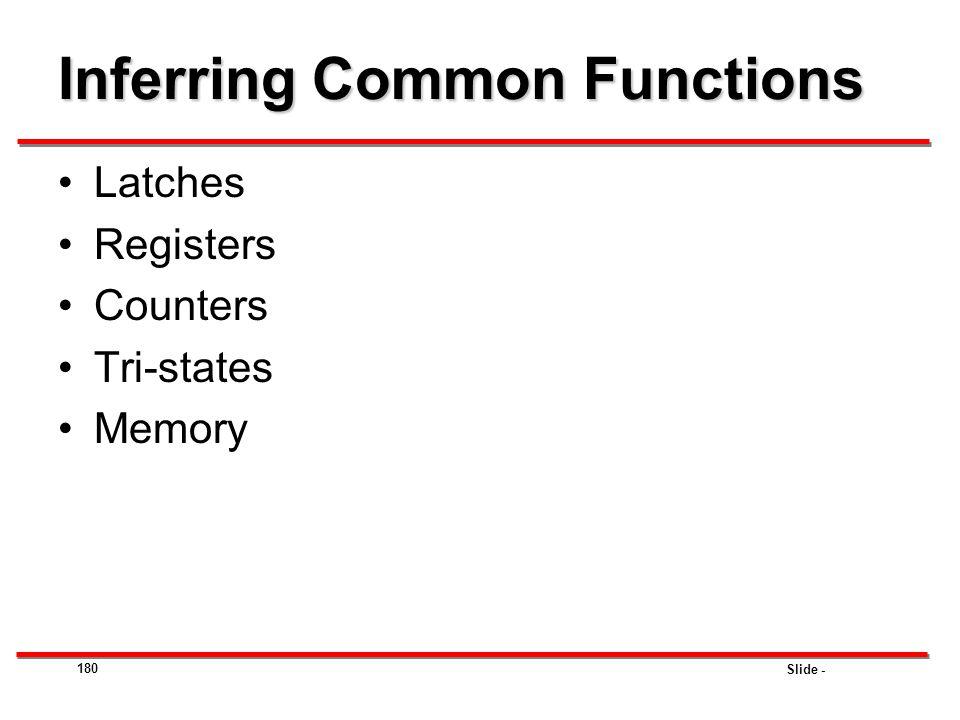 Inferring Common Functions