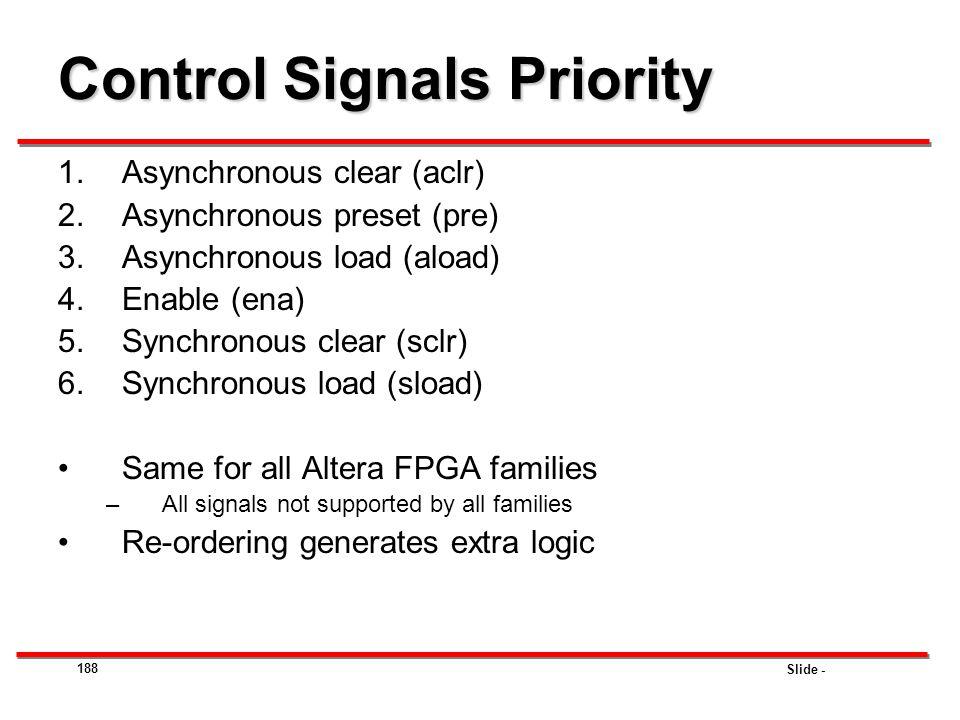 Control Signals Priority