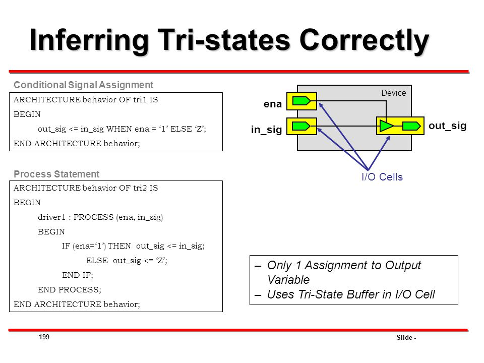 Inferring Tri-states Correctly