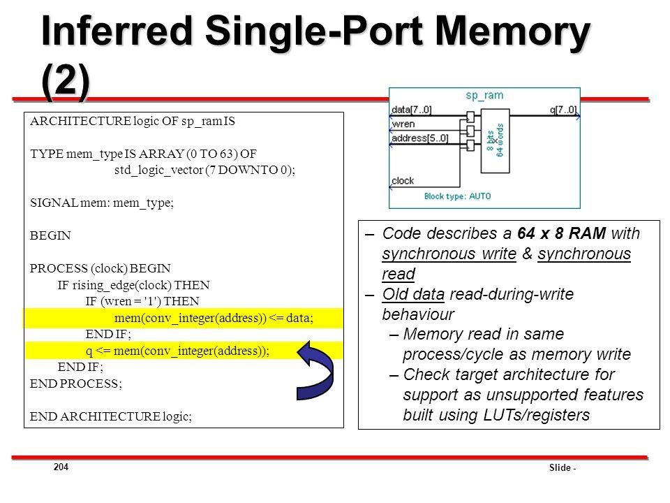 Inferred Single-Port Memory (2)