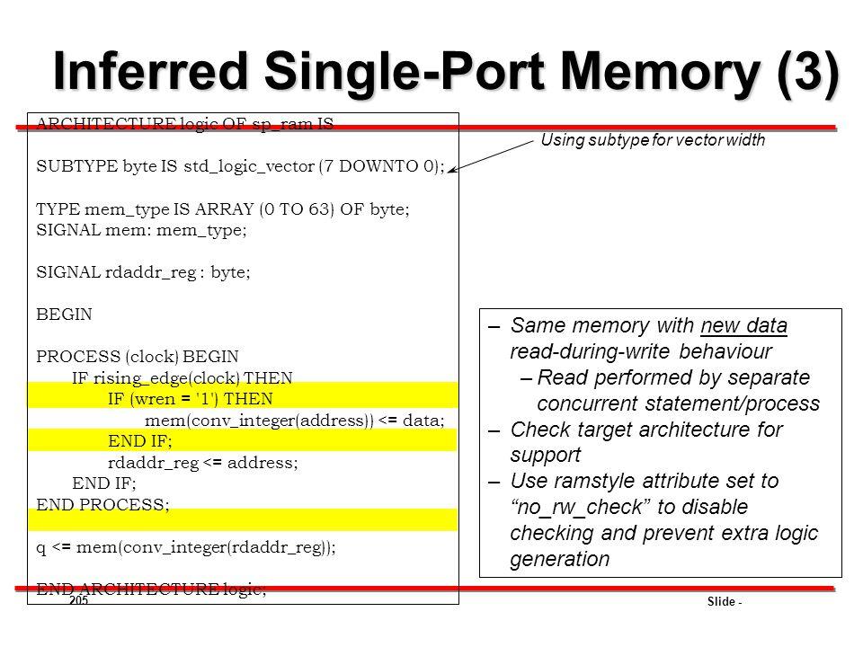 Inferred Single-Port Memory (3)