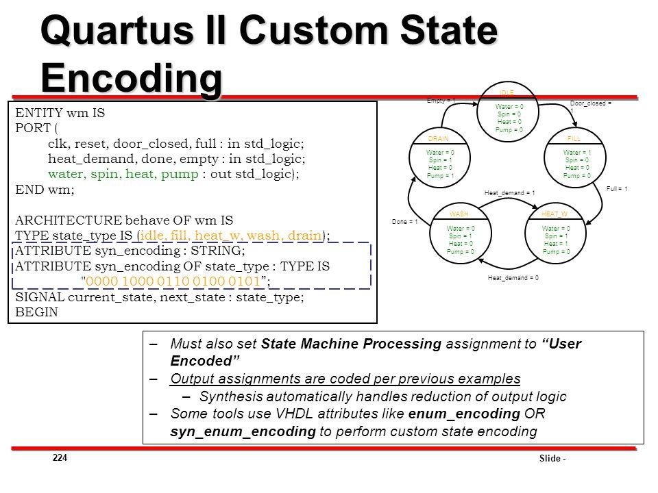 Quartus II Custom State Encoding