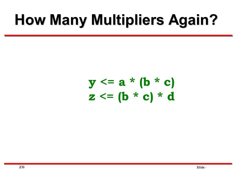 How Many Multipliers Again