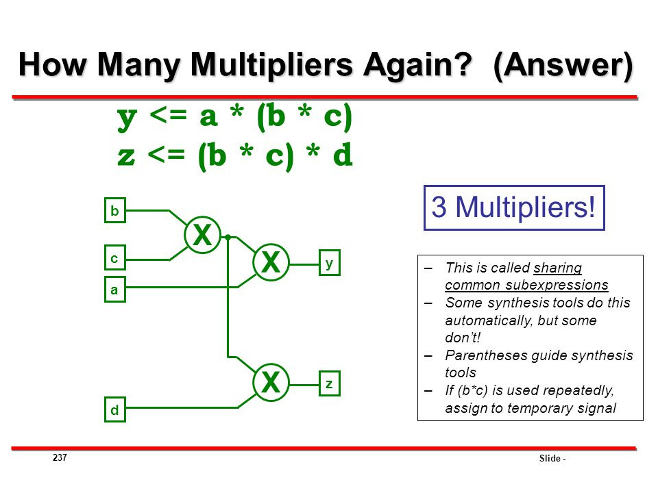 How Many Multipliers Again (Answer)