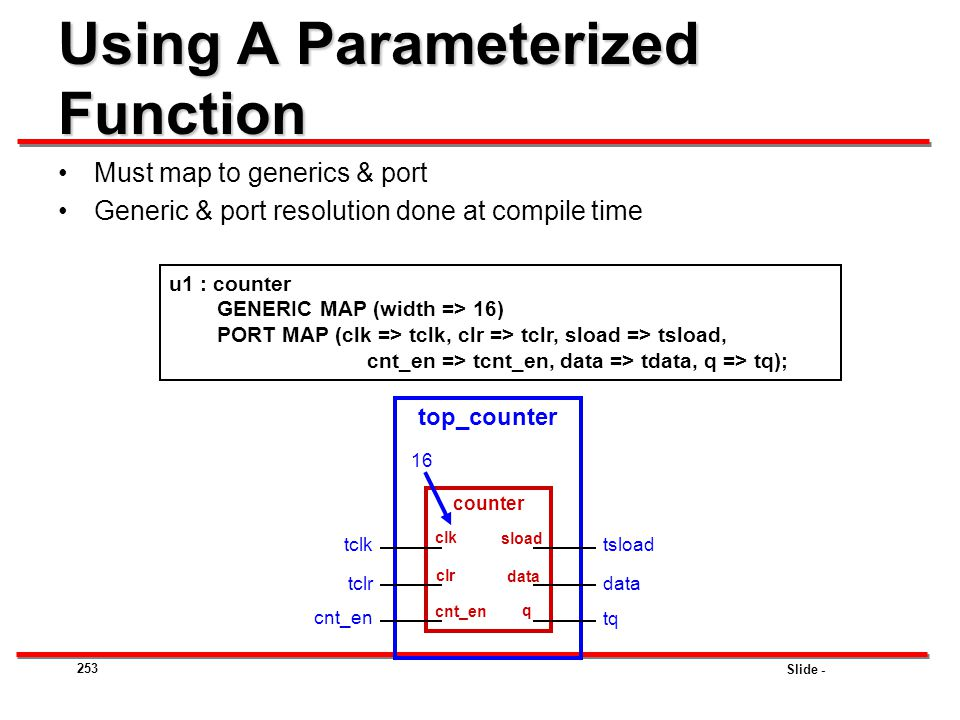 Using A Parameterized Function