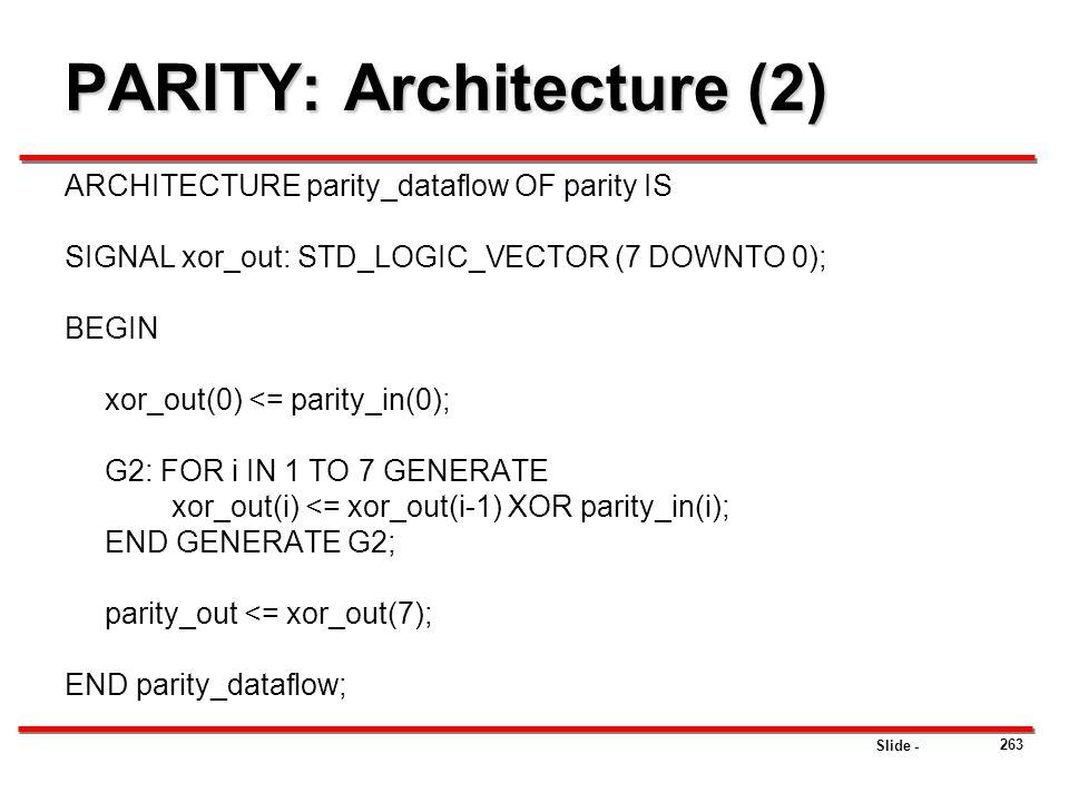 PARITY: Architecture (2)