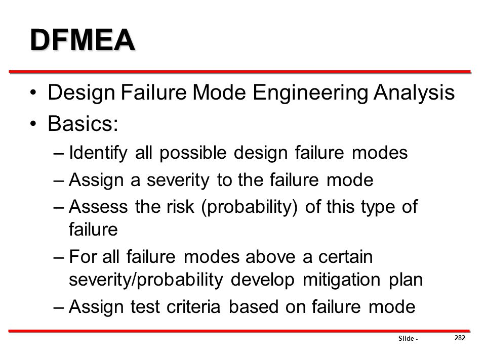 DFMEA Design Failure Mode Engineering Analysis Basics: