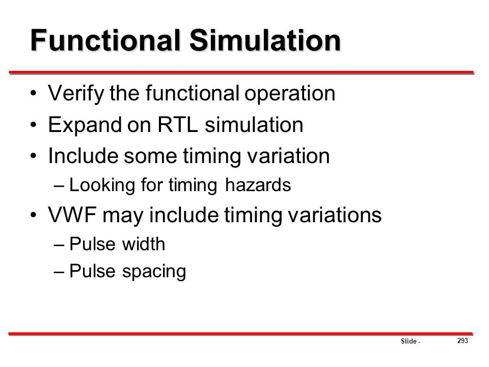 Functional Simulation